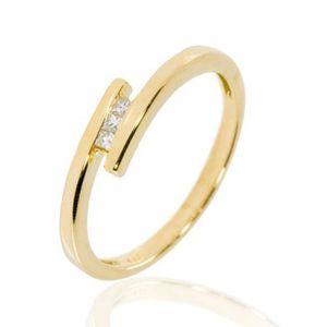 BAGUE - ANNEAU Bague or et diamants taille prin... Diamant (0....