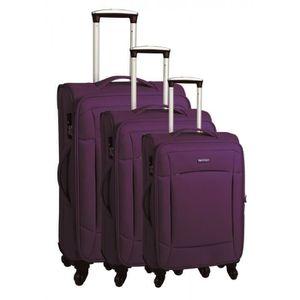 SET DE VALISES Set de 3 valises chariot 4 roues ultra-lite violet