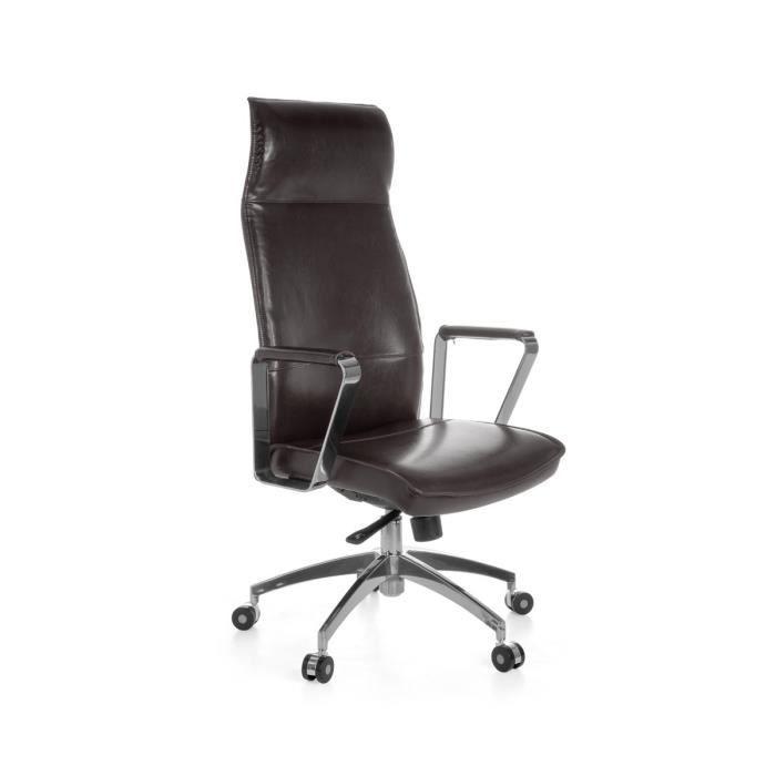 amstyle fauteuil de bureau verona xxl en cuir v achat vente chaise de bureau marron les. Black Bedroom Furniture Sets. Home Design Ideas