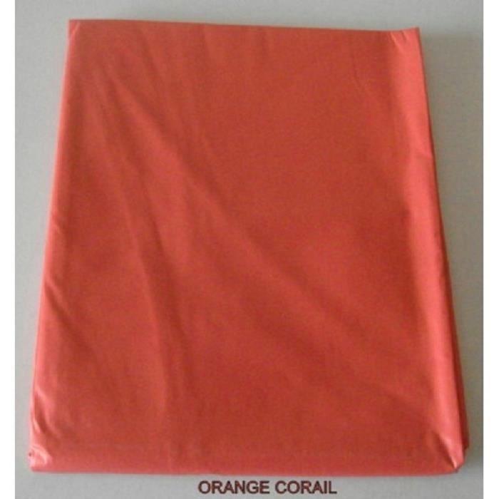 nappe en toile cir e ronde 180 cm gourmandise orange corail couleur orange corail achat. Black Bedroom Furniture Sets. Home Design Ideas