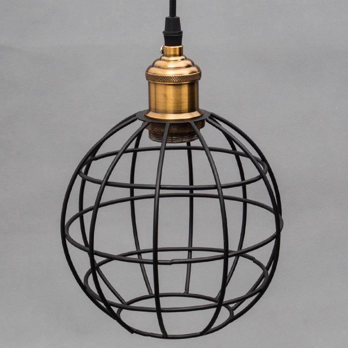 Lustre sphere achat vente lustre sphere pas cher les for Suspension luminaire cage