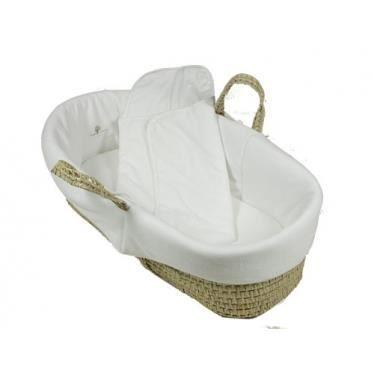 couffin en osier et coton biologique blanc achat vente. Black Bedroom Furniture Sets. Home Design Ideas