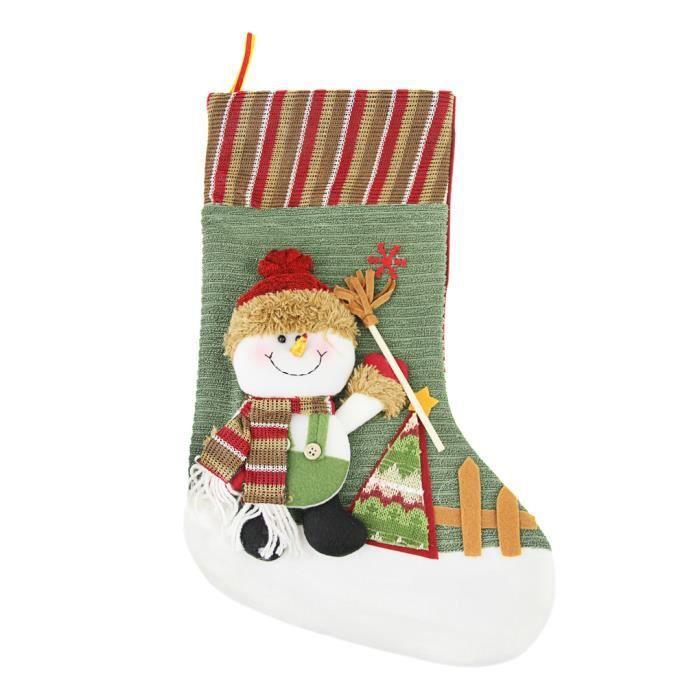 cadeau no l chaussette bas de no l suspendre motif bonhomme de neige sac organisateur bonbon. Black Bedroom Furniture Sets. Home Design Ideas
