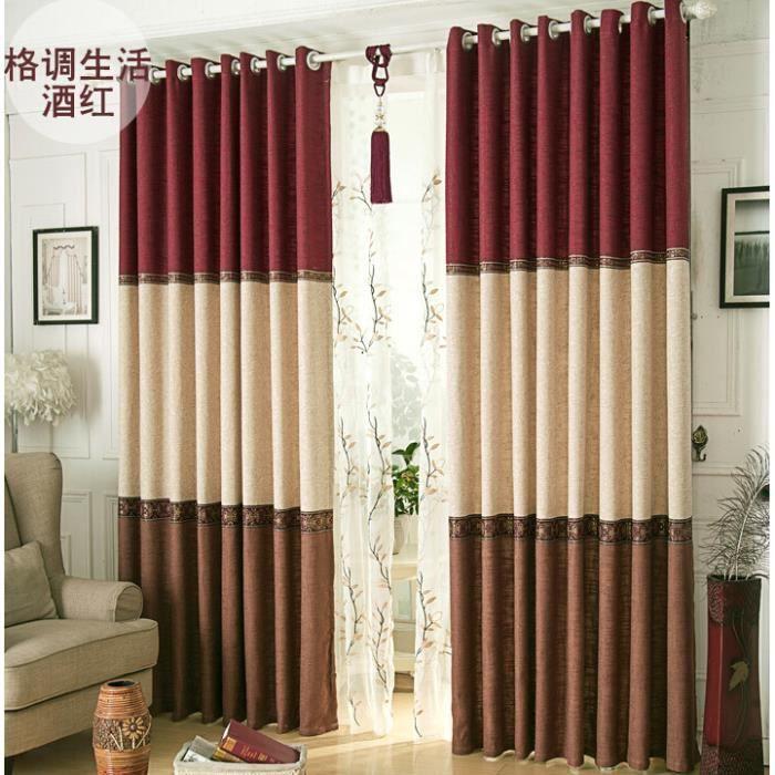 Marron imprim rideaux de fen tre de haute qualit pour le for Rideaux fenetres salon