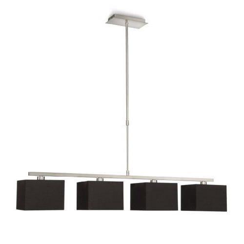 philips 366761716 ely suspension lampe de salon m tal noir 4 x 42 w achat vente philips. Black Bedroom Furniture Sets. Home Design Ideas