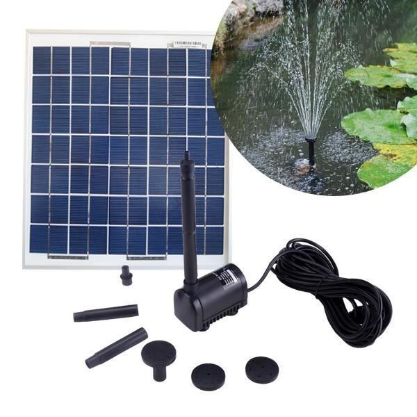 pompe solaire pour bassin 200l h avec panneau solaire 5w achat vente pompe filtration kit. Black Bedroom Furniture Sets. Home Design Ideas