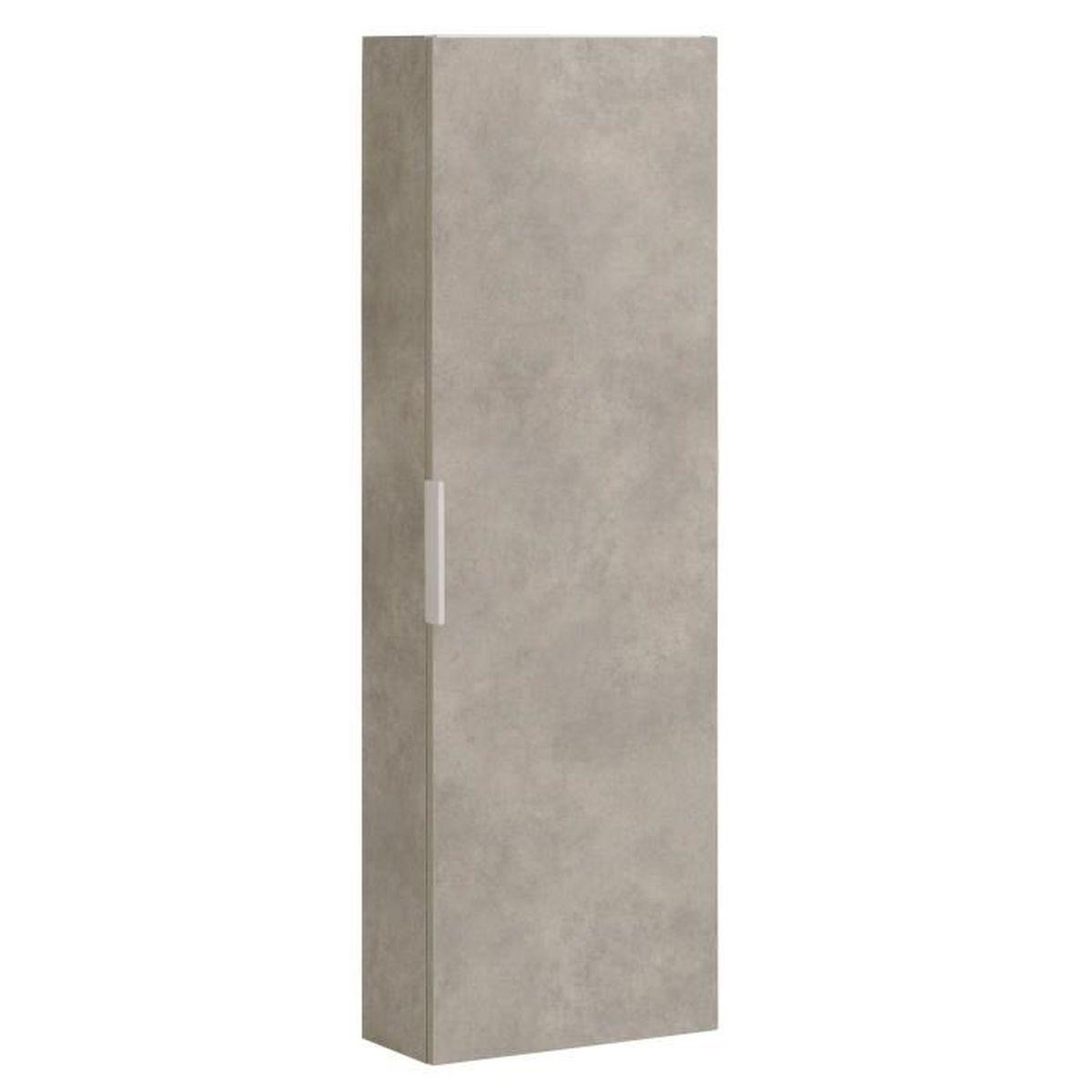 luxy colonne de salle de bains 120cm effet b ton gris achat vente colonne armoire sdb. Black Bedroom Furniture Sets. Home Design Ideas