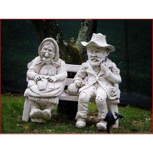 Banc en pierre achat vente banc en pierre pas cher for Statue jardin pas cher