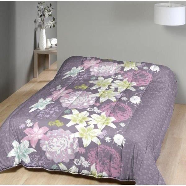 couette 260x240 cm imprim e simple face 400g cm2 fleurs parme mx fabrication fran aise achat. Black Bedroom Furniture Sets. Home Design Ideas