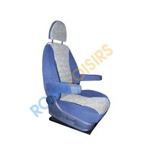 Housse universelle si ge camping car bleue grise achat for Housse siege camping car