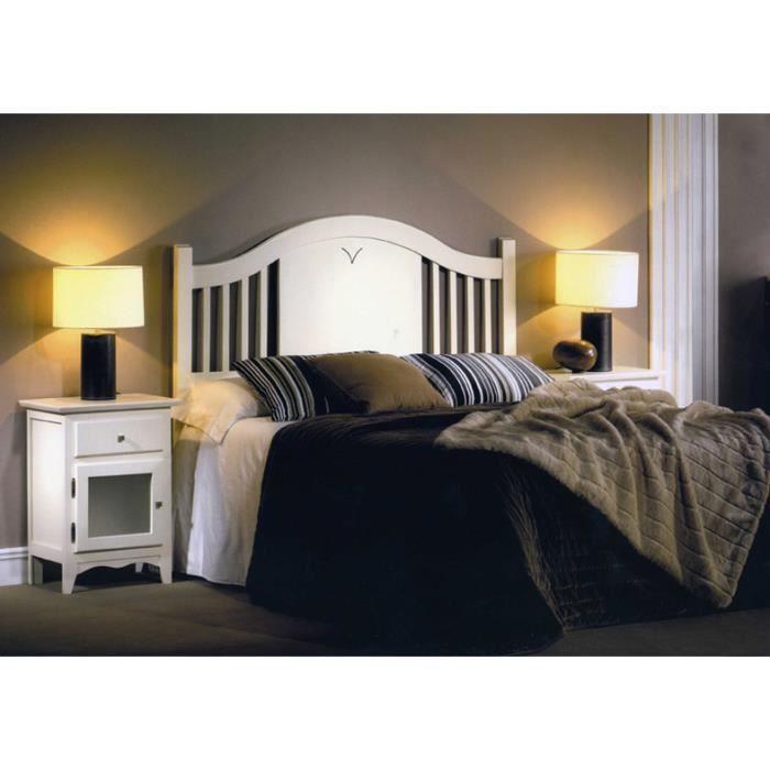 T te de lit en bois mod le benidorm achat vente t te de lit cdiscount - Modele tete de lit en bois ...