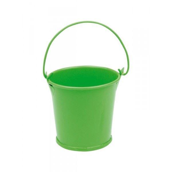 3 petits sceaux en m tal couleur vert anis achat vente d cors de table m tal cdiscount. Black Bedroom Furniture Sets. Home Design Ideas