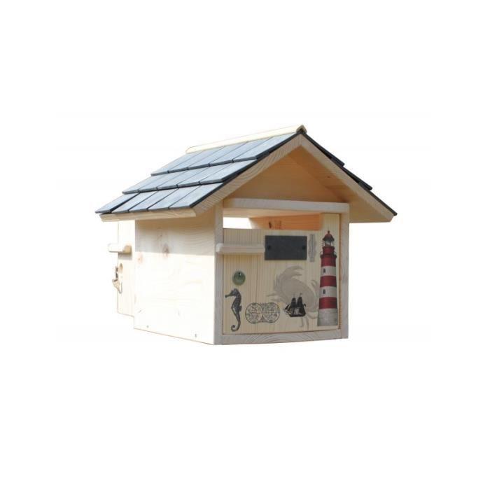 boite aux lettres bois nautilus prestige 2 portes achat vente boite aux lettres cdiscount. Black Bedroom Furniture Sets. Home Design Ideas