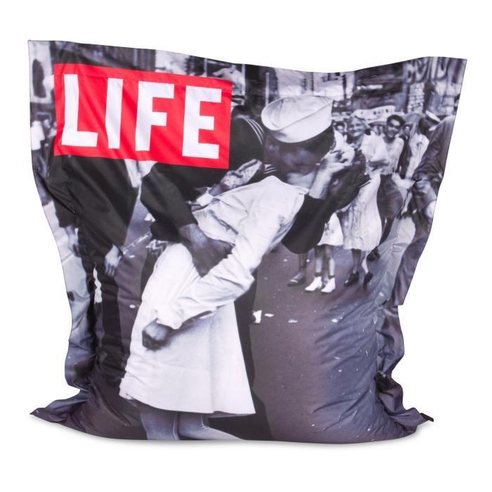 pouf g ant ext rieur xxl le baiser de times square achat vente pouf poire cdiscount. Black Bedroom Furniture Sets. Home Design Ideas