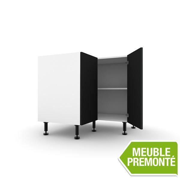 meuble angle bas 93cm 2 porte 70x30 soft ardoise achat