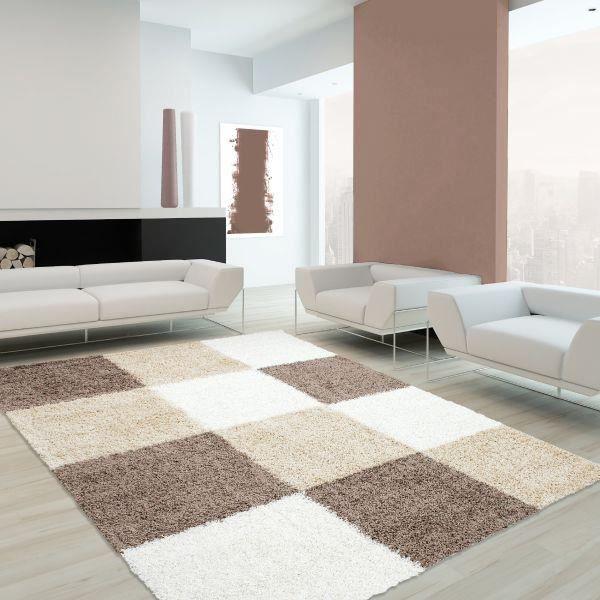 tapis shaggy life 1501 mocca 200 x 290 cm achat vente tapis cdiscount. Black Bedroom Furniture Sets. Home Design Ideas