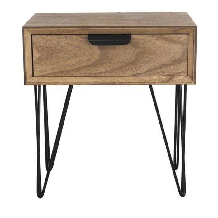 Table 1 tiroir copenhage 53 cm achat vente table de for Table de x 6