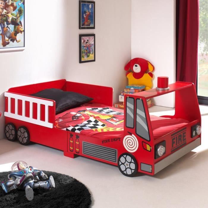 paris prix lit enfant pompier rouge achat vente lit complet paris prix lit enfant po. Black Bedroom Furniture Sets. Home Design Ideas