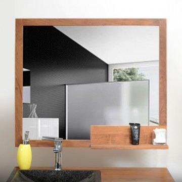 miroir de d coration de salle de bain en teck t achat vente miroir salle de bain teck bois. Black Bedroom Furniture Sets. Home Design Ideas