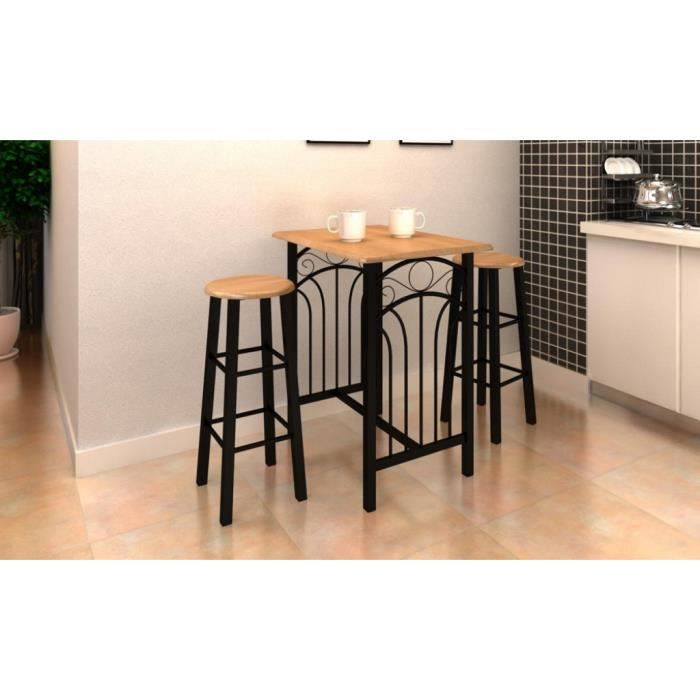 lot avec une table haute de bar et 2 tabourets 39 39 p achat vente table de cuisine lot avec une. Black Bedroom Furniture Sets. Home Design Ideas