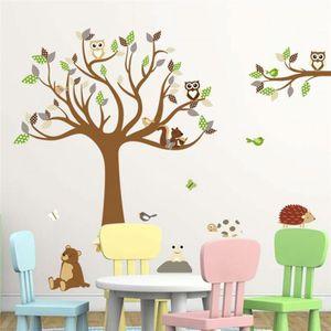 stickers muraux arbre enfant achat vente stickers muraux arbre enfant pas cher cdiscount. Black Bedroom Furniture Sets. Home Design Ideas