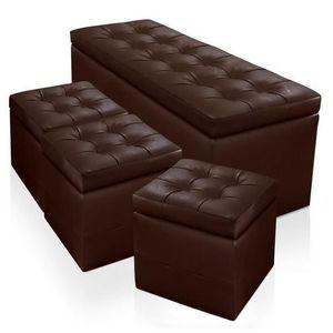 pouf marron achat vente pouf marron pas cher. Black Bedroom Furniture Sets. Home Design Ideas
