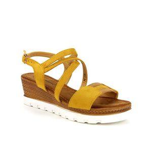 SANDALE - NU-PIEDS sandale - nu-pieds, Compensées Jaune Chauss