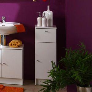 MEUBLE BAS COMMODE SDB Elément bas de salle de bain blanc, H 84 x L 29 x
