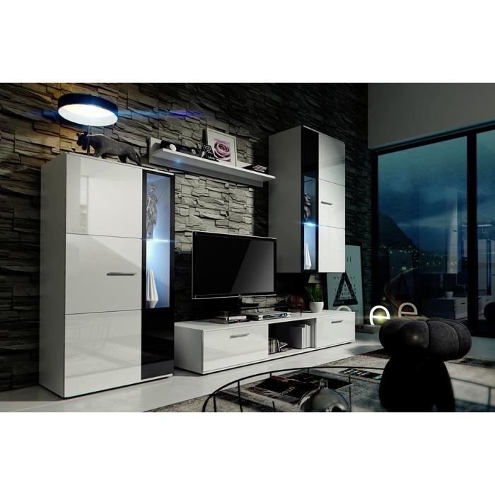 mur tv complet rom o achat vente meuble tv mur tv complet rom o cdiscount. Black Bedroom Furniture Sets. Home Design Ideas