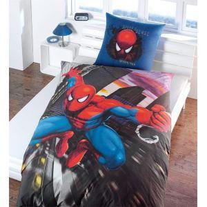 spiderman parure de lit 135x200 cm 100 coton achat. Black Bedroom Furniture Sets. Home Design Ideas