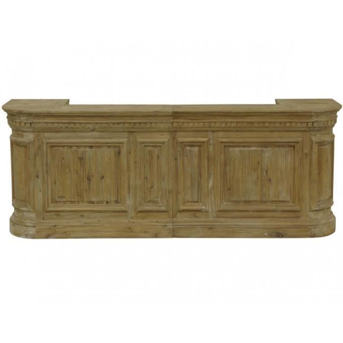 Meuble comptoir cuisine meuble comptoir en bois massif for Meuble bar comptoir conforama
