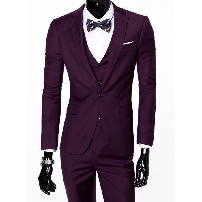 costume homme mariage gilet pantalon costard ensemble trois pi ces costume pantalon gilet. Black Bedroom Furniture Sets. Home Design Ideas