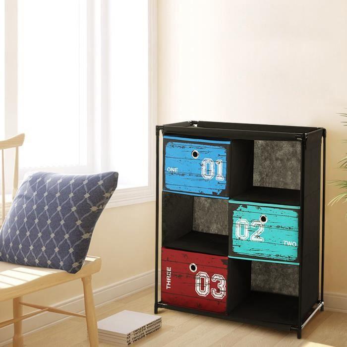 Ikayaa meuble de rangement bo te de rangement de chambre - Petit meuble de rangement 3 tiroirs ...