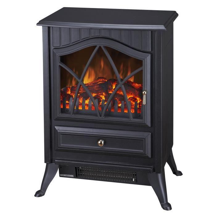 chauffage radiateur lectrique style poele bois achat. Black Bedroom Furniture Sets. Home Design Ideas