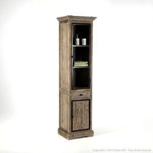 COLONNE - ARMOIRE SDB Colonne de salle de bain en bois 2 portes 1 tiroir