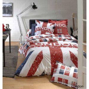 parure de lit jack achat vente parure de lit jack pas cher cdiscount. Black Bedroom Furniture Sets. Home Design Ideas