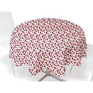 nappe 160 cm ronde achat vente nappe 160 cm ronde pas cher cdiscount. Black Bedroom Furniture Sets. Home Design Ideas