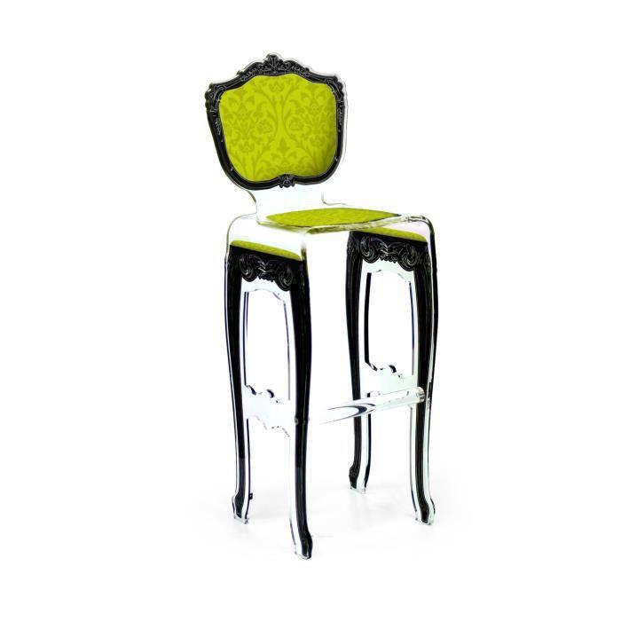 Acrila tabouret de bar baroque vert clair achat vente tabouret de bar - Tabouret de bar vert ...