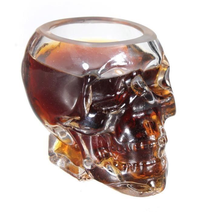 350ml tete mort crane coupe crystal skull shot glass vodka. Black Bedroom Furniture Sets. Home Design Ideas