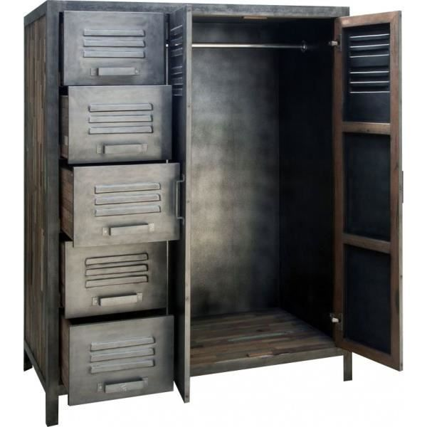armoires en bois recycl et m tal achat vente armoire. Black Bedroom Furniture Sets. Home Design Ideas