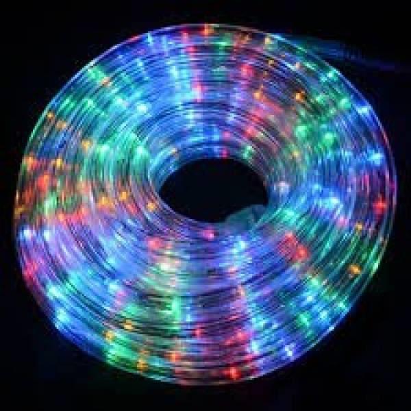 Guirlande tube lumineux multicolore 10m 7 jeux de for Guirlande de lumiere exterieur