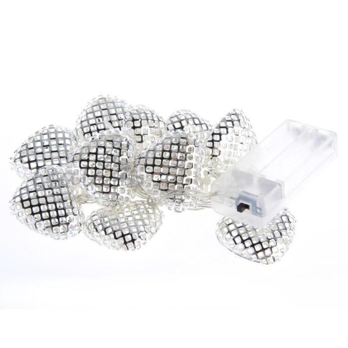 guirlande lumineuse lampe coeur 10 leds blanc c achat. Black Bedroom Furniture Sets. Home Design Ideas