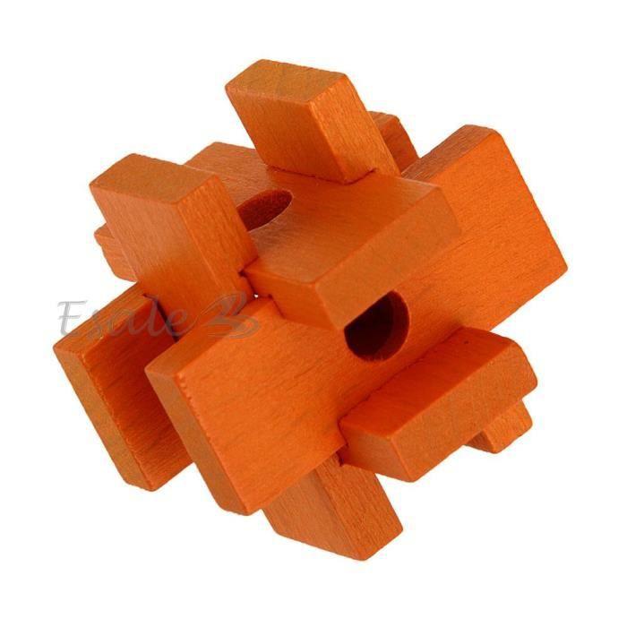 puzzle 3d casse t te chinois en bois orange jouet jeu cadeau adultes enfants achat vente. Black Bedroom Furniture Sets. Home Design Ideas