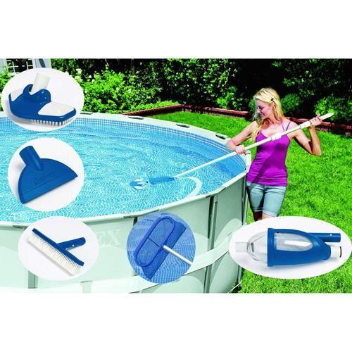 Kit d 39 entretien vacuum luxe pour piscine achat vente for Aspirateur pour piscine intex