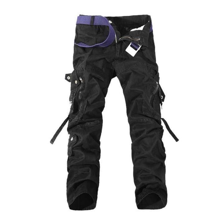 pantalon homme militaire automne ete pantalons noir. Black Bedroom Furniture Sets. Home Design Ideas