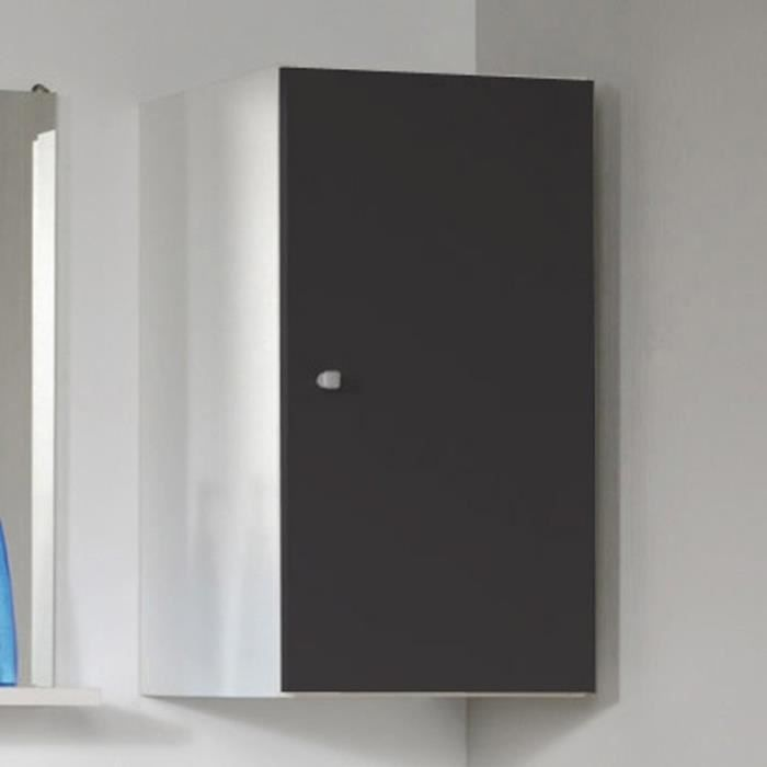 Paris prix meuble haut 1 porte remix gris achat for Meuble porte bagage