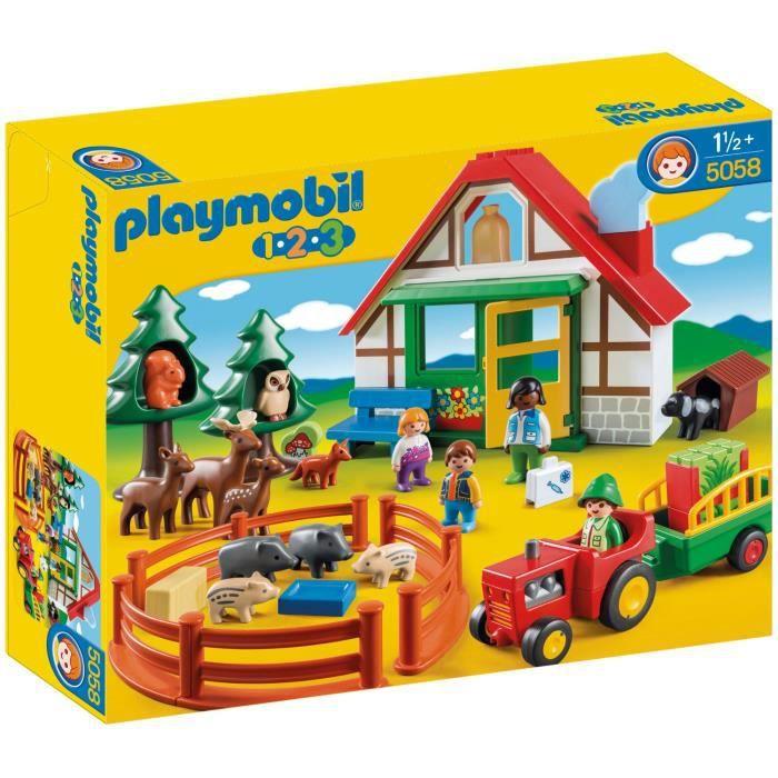 Playmobil 1 2 3 5058 coffret maison foresti re achat vente univers minia - Maison a donner gratuitement ...