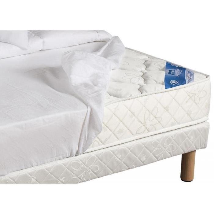 drap housse 100 coton blanc bonnet 27 cm 160x200 achat vente drap hous. Black Bedroom Furniture Sets. Home Design Ideas