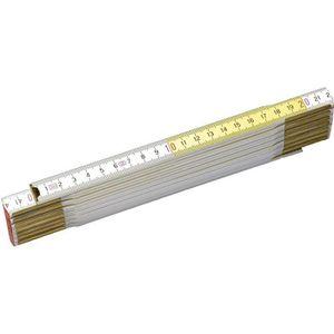 STANLEY M?tre pliant 2m x 17mm bois blanc-jaune