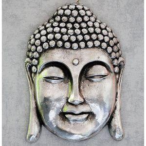 Bouddha argente achat vente bouddha argente pas cher for Tete de bouddha deco